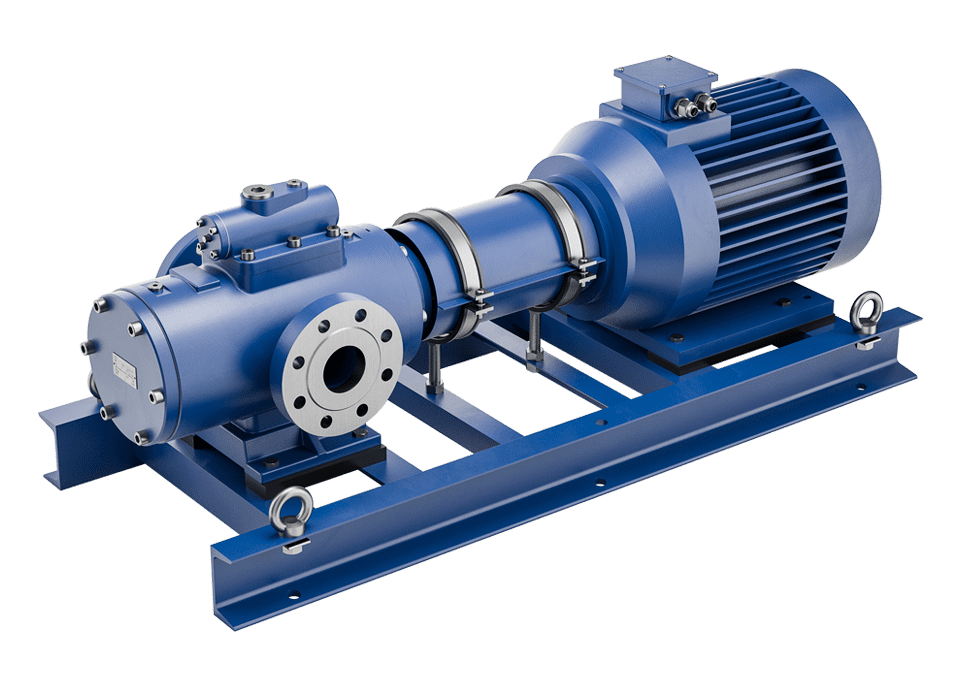 screw pump series CGH in horizontal installation