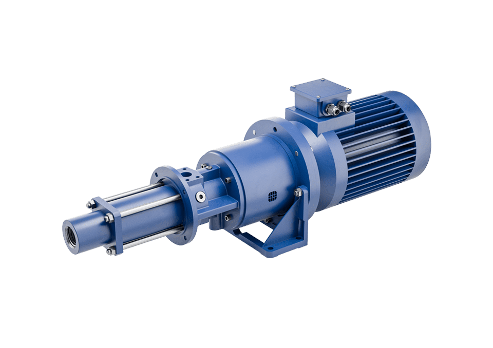 Flange screw pumps universal for horizontal installation