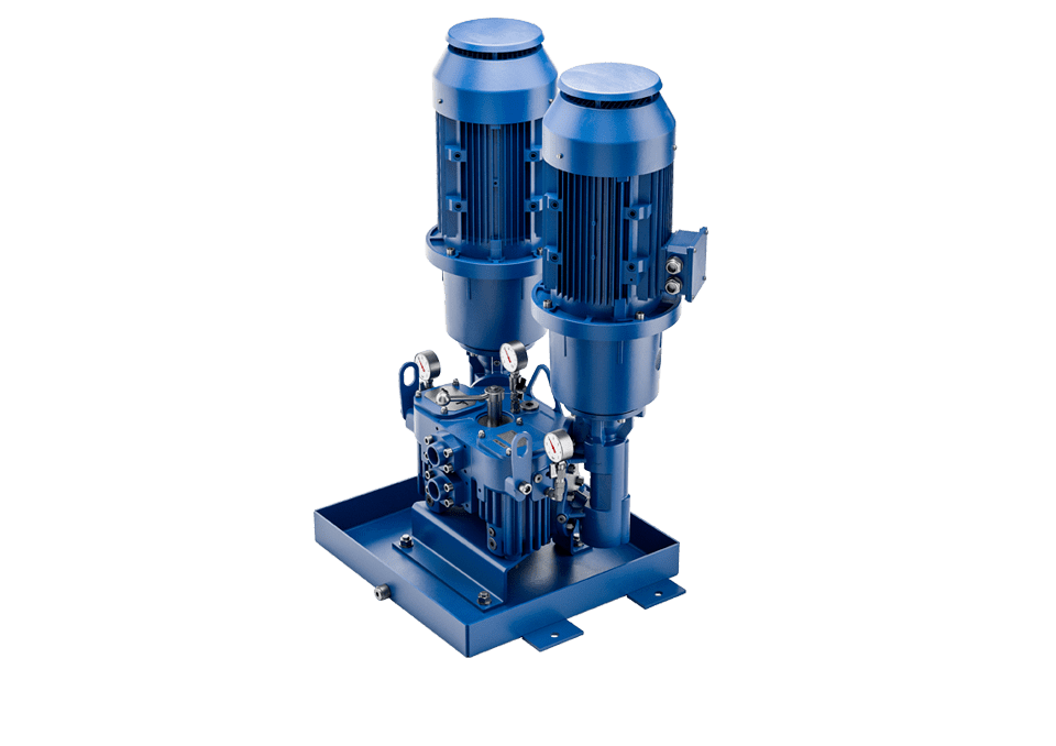 Screw pumps double station