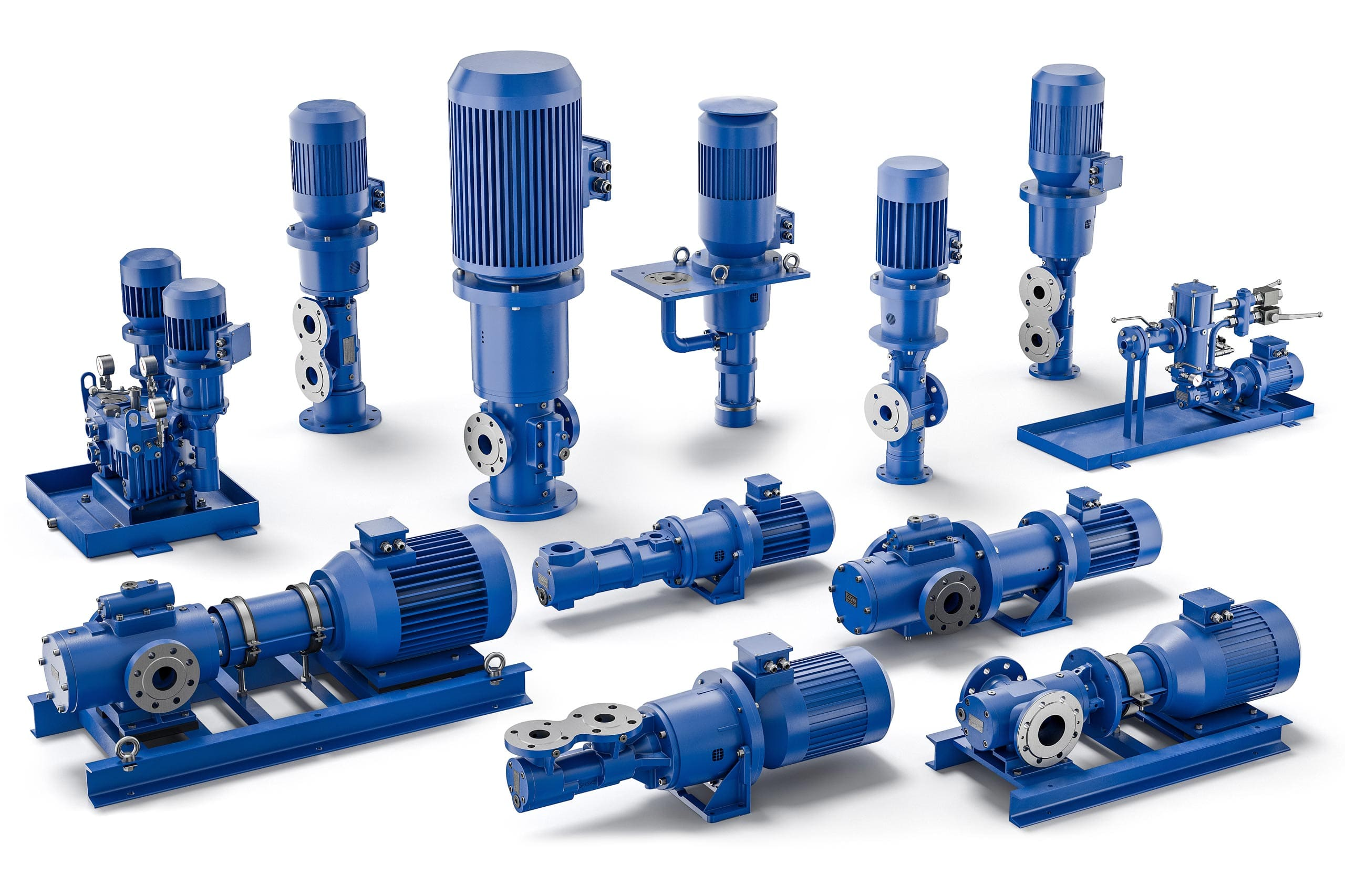 Service for screw pumps horizontal and vertical pumps